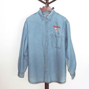 NASCAR Dale Earnhardt #3 blue denim shirt
